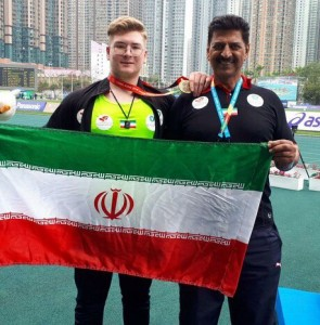 Iran gains gold in shot put at Asian Youth Athletics C'ships